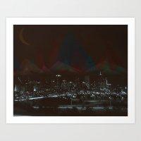 denver Art Prints featuring Denver by Ryan McFarlin