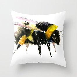 Bumblebee, bee art, bee design, minimalist bee honey Throw Pillow