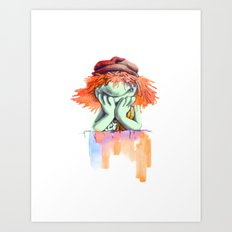 Don't be a party Boober Art Print