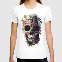 garden T-shirts featuring Garden Skull by Ali GULEC