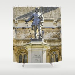 Oliver Cromwell Statue Shower Curtain