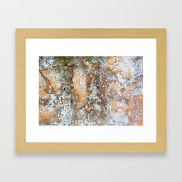 Painted Stone Textures 80 Framed Art Print