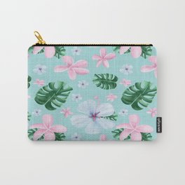 Peaceful / tropical / flowers / leaves Carry-All Pouch