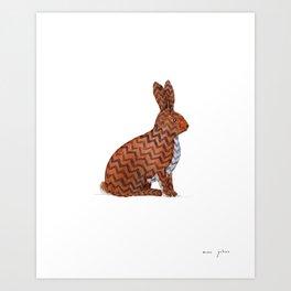 zig zag rabbit Art Print