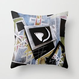 Edgy Moments to the Heart Throw Pillow