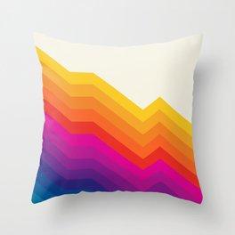 Seventies rainbow stripes Throw Pillow