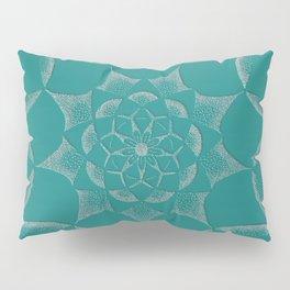 Dot Mandala Dark Green- 3D Pointilism Pillow Sham