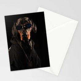 Cool Doberman Pinscher with Sunglasses Stationery Cards