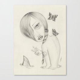 Shark Girl Canvas Print