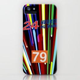 Le Mans Art Car design iPhone Case