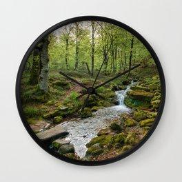 Green Stream Wide Wall Clock