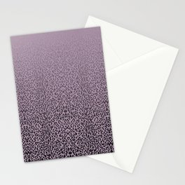 Purple leopard gradient Stationery Cards