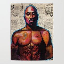lyrics,poems,rapper,colourful,colorful,poster,wall art,fan art,music,hiphop,rap,rapper,legend,shirt, Poster