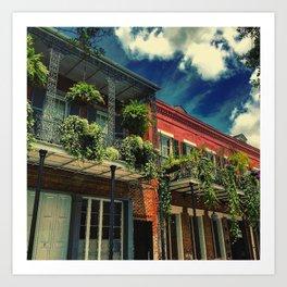 French Quarter Balconies Art Print