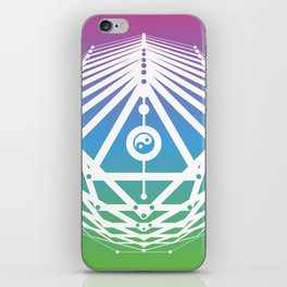 Radiant Abundance (cool gradient-white) iPhone Skin