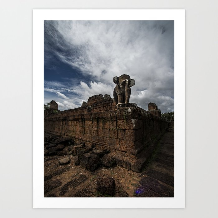 East Mebon 2 Color Art Print