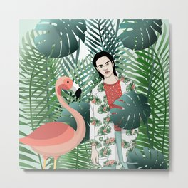 Flamenco and jungle girl Metal Print