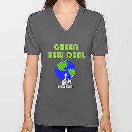 Green New Deal - Earths Future is On Mankinds Back Unisex V-Neck