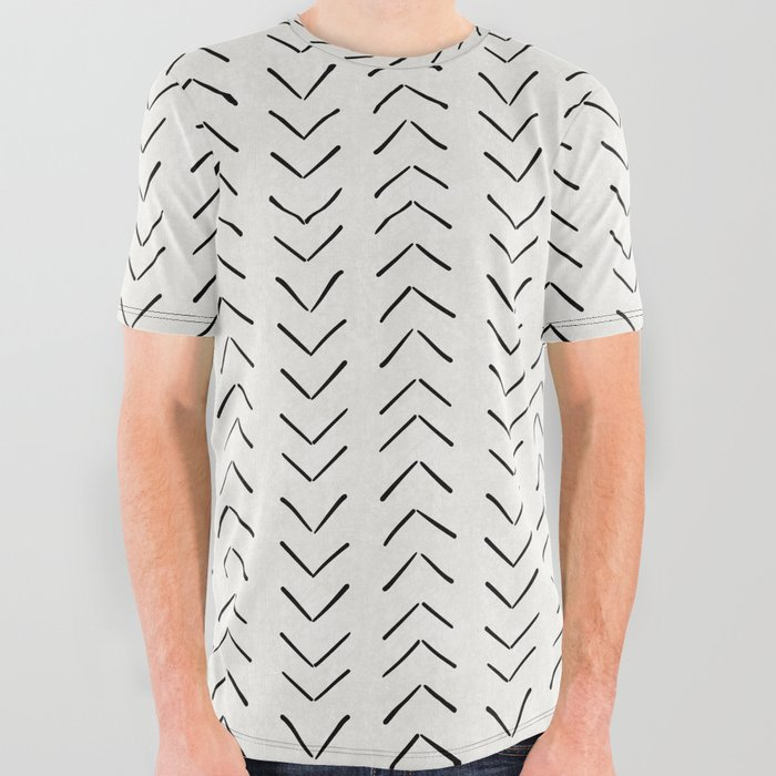 Mud Cloth Big Arrows in Cream All Over Graphic Tee