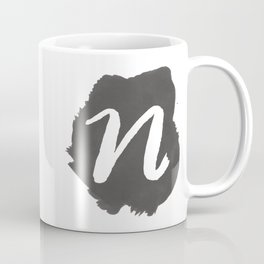 """N"" Monogram, Watercolor Design Coffee Mug"