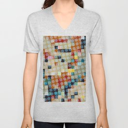 dots meet pixels Unisex V-Neck