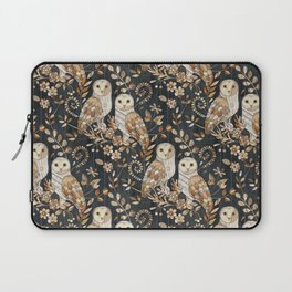 Wooden Wonderland Barn Owl Collage Laptop Sleeve