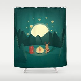 Camp Fires Shower Curtain