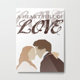 Marius & Cosette - A Heart Full of Love Metal Print