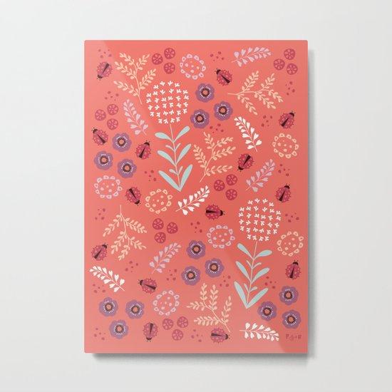 Little Ladybugs Metal Print