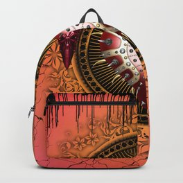 Awesome dark heart with skulls Backpack