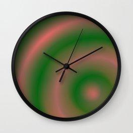 Green and Pink Wall Clock