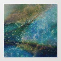 batik Canvas Prints featuring Oceana Batik by GypsyBohemian