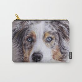 Australian shepherd colored pencil drawing Carry-All Pouch