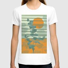 Eucalyptus stripes pattern orange #society6 #sun T-shirt