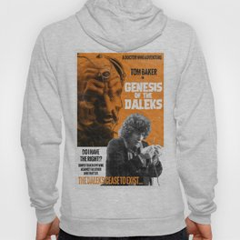 Doctor Who, 4th Doctor + Daleks, Retro Vintage Movie Poster Hoody