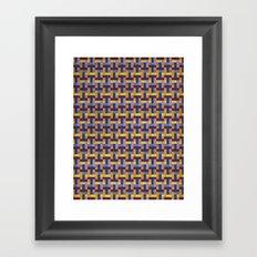 Woven Pixels V Framed Art Print