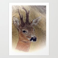 out in the woods -2- Art Print