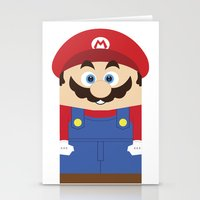 super mario Stationery Cards featuring Super Mario by Xiao Twins