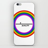 equality iPhone & iPod Skins featuring Equality by LukaG