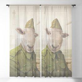 Private Leonard Lamb visits Paris Sheer Curtain