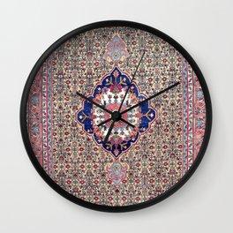 Bijar Kurdish Northwest Persian Carpet Print Wall Clock