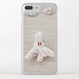 Seashells and urchins design Clear iPhone Case