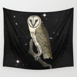 Owl in the Universe Wall Tapestry
