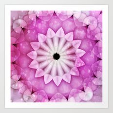 Starlight Pinks Kaleidoscope Art Print