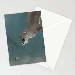 Otter in a Mangrove, Costa Rica Stationery Cards