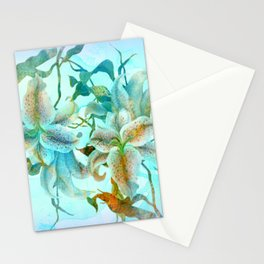 bue lilies Stationery Cards