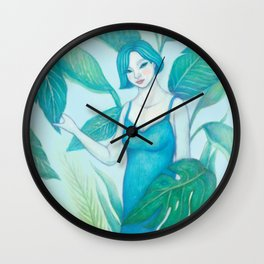 A Girl in the Forest Wall Clock