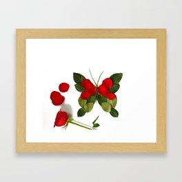 Butterfly-Rose Framed Art Print