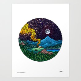 AN ADVENTURER'S DREAM - Colored - Visothkakvei Art Print