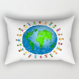 Happy World Kids Rectangular Pillow